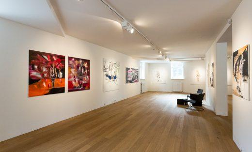 Ausstellungsansicht Deniz Alt, Galerie HAAS & GSCHWANDTNER, 2021, Foto: Sabine Bruckner